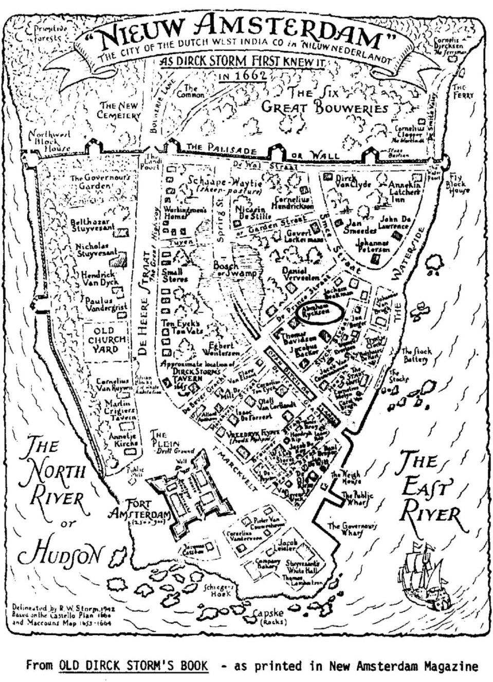 New Amsterdam as Dirck Storm first knew it in 1662